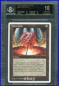 MTG Magic Summer Magic Mana Vault BGS 10 Black Label (TCC)