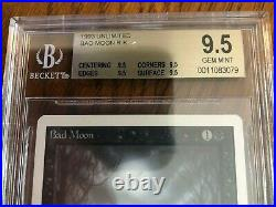 MTG Magic The Gathering Unlimited Bad Moon BGS 9.5 Gem Mint QUAD