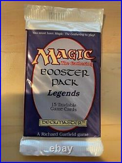 MTG Magic the Gathering Sealed Booster Pack Legends English 1994 Reserve List