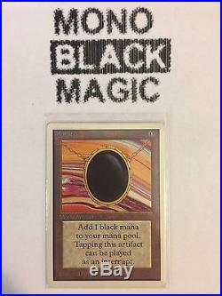 MTG Magic the Gathering Unlimited MOX JET x 1 NM Condition Vintage Power 9 VHTF
