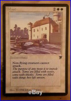 MTG Moat Legends English NM/LP Magic the Gathering Vintage Rare Great Investment
