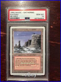 MTG PLATEAU REVISED 1994 x1 PSA 10 GEM MINT PERFECT CARD