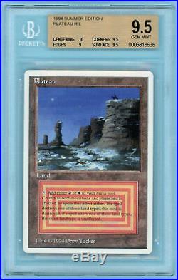 MTG Plateau Summer Magic (Edgar) BGS 9.5+