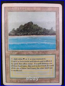 MTG Revised Tropical Island damaged 100% playable