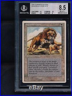 MTG Savannah Lions (Summer Magic Edgar) RARE BGS 8.5 NM/Mint+ Sunday Magic