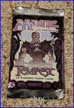 MTG Tempest Booster Pack Brand New Fresh From Box Rare Magic the Gathering