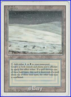 MTG Tundra Revised Edition Rare