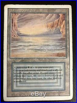MTG Underground Sea Revised (3rd Edition) Dual Land Heavy Play