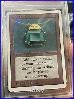 MTG Unlimited Mox Emerald Graded 8 Power 9