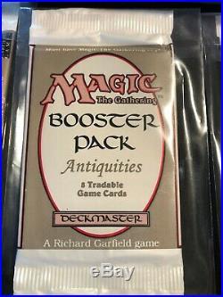 MTG Vintage Magic Booster Packs x4 Antiquities and Original Box Super Rare
