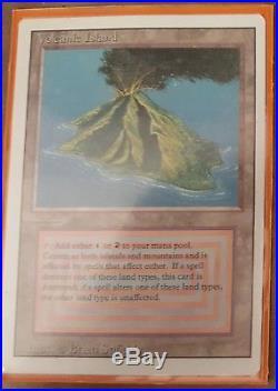 MTG Volcanic Island Dual Land Beautiful NM double sleeved Revised Izzet