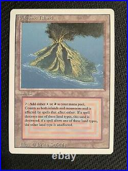 MTG Volcanic Island Revised, Super clean, Never Played, See pics pls
