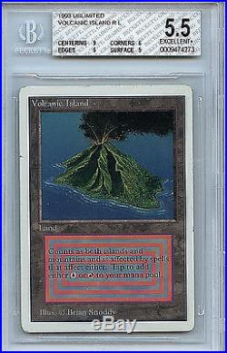 MTG Volcanic Island Unlimited Dual Land BGS 5.5 Excellant+ Card Magic WOTC 4273