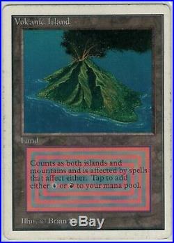 MTG Volcanic Island Unlimited Edition Rare MP