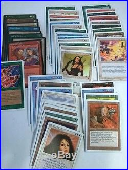 Magic The Gathering MTG Card Collection Rare Scrubland Aladdin Djinn Recall NR