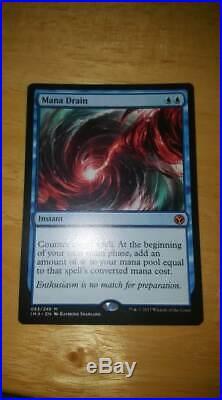 Magic The Gathering Mana Drain Near Mint Mythic Rare Iconic Masters 065/249