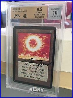 Magic The Gathering Sol Ring Alpha Bgs 9.5 Mtg Jsa 10