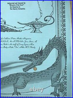 Magic the Gathering Charity Fellowship poster set RARE! Alpha Beta Mox Lotus