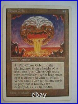 Magic the Gathering MTG Artifact Rare 1x Unlimited Chaos Orb x1 Old School 93/94