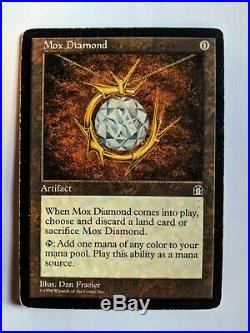 Mox Diamond MTG Stronghold Rare Magic the Gathering Moderate Play (MP)