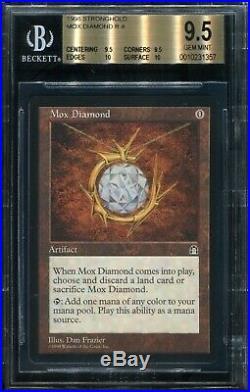 Mox Diamond Stronghold BGS 9.5 Quad++ w 2x 10 Gem Mint MTG Magic the Gathering