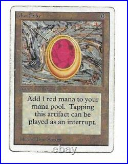 Mox Ruby Unlimited Edition Magic the Gathering MTG Heavily Played HP