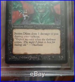 MtG Juzam Djinn Arabian Nights, BGS 9 MINT quad + 9.5 on surface