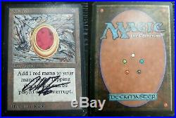 MtG Magic Investment Vintage Old School 1993 Rare Signed Beta Mox Ruby GD/MP