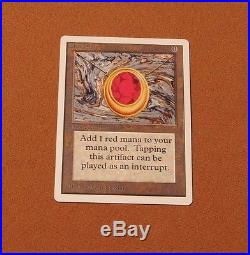 MtG Mox Ruby Unlimited LP Power 9 Card Magic the Gathering