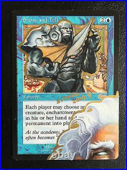 Mtg Altered Art Hand Painted Show And Tell Urza Tutor By Sitong