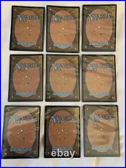 Mtg Foil Power 9 P9 Set Magic The Gathering Black Lotus Mox Sapphire Time Walk