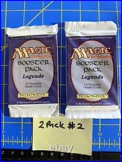 Mtg Legends Booster Pack English Ed. 2-Pack Lot PLEASE READ FULL DESCRIPTION