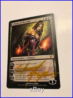 Mtg Liliana of the Veil Signed by Artist Innistrad Rare