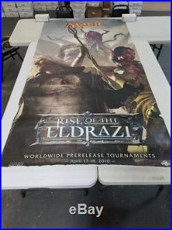 Mtg Magic Pre-release Poster Banner Rise of the Eldrazi Rare VHTF Free Shipping