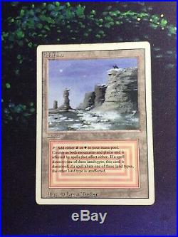 Mtg, Plateau. Revised Rare Dual Land. HP 2 Available