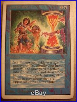ORIGINAL Authentic Unlimited TIMETWISTER LP MTG Magic the Gathering Power 9 P9
