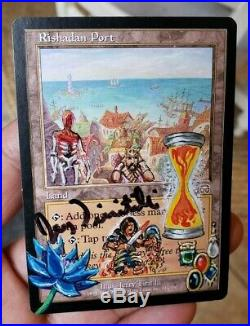 POWER 9 ALTER Black Lotus, Mox, Time MTG/Magic Mercadian Masques Rishadan Port