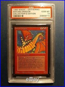 = PSA 10 Shivan Dragon (Collector's Edition) = MTG Magic the Gathering PSA10