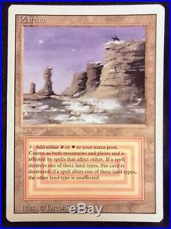 Plateau Revised Dual Land Magic the Gathering MTG LP Rare No Reserve