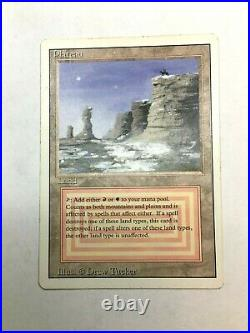 Plateau Revised Heavy Play LP/MP MTG Magic Reserved List EDH Dual Land Tracking