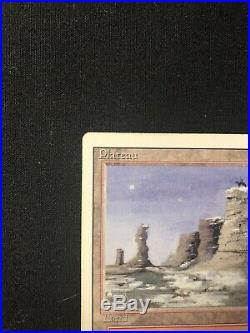Plateau Revised Magic The Gathering Mtg Land Rare Sp/+