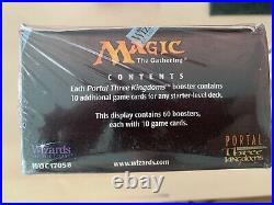 Portal Three kingdoms SEALED! ENGLISH booster box SUPER RARE! P3K MTG 60 packs