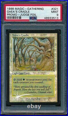 Psa 9 Mint Gaea's Cradle Foil 1998 Magic The Gathering Mtg #321 Promo Judge Rare