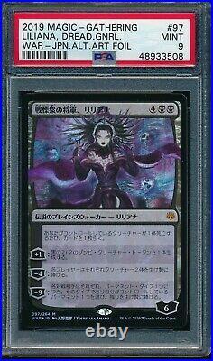 Psa 9 Mint Liliana Foil Dreadhorde General Mtg Magic Japanese Alt Art Amano