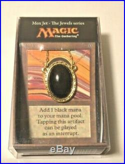 RARE Mox Jet Jewel Series Necklace Magic Gathering Dan Frazier Alpha Beta