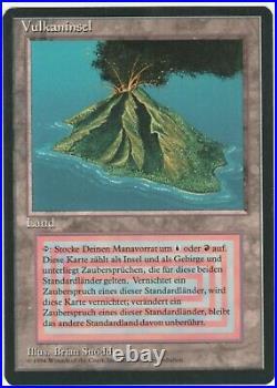 Revised Edition FBB German MTG Volcanic Island Magic Dual Land