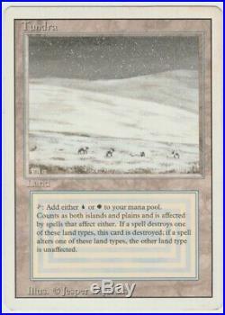 Revised Edition MTG Tundra Magic Dual Land