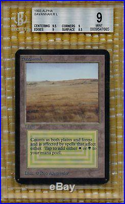 Savannah Limited Edition Alpha (1993) BGS 9.0 MINT Magic MTG