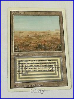 Scrubland Magic the Gathering Card Revised Edition Dual Land HP