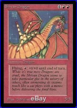 Shivan Dragon EX+ MTG Beta Magic VHTF